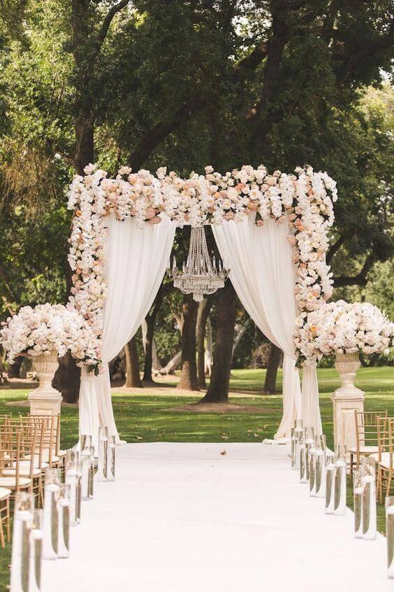 decoração de casamento diurno rustico