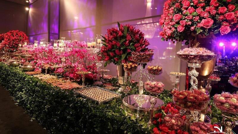 decoração de casamento mesa de bolo Jayme Bernardo