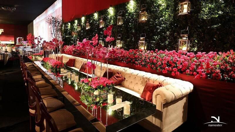 decoração de casamento mesa de convidados vermelho jayme bernardo