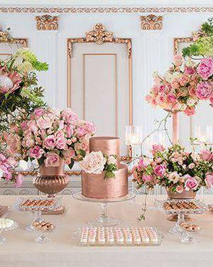decoração de casamento mesa do bolo divulgaçao La Vie en Rose