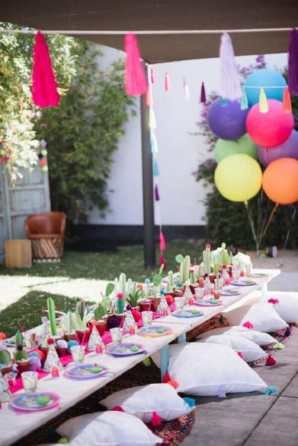 decoração de festa infantil ao ar livre Foto Ideias Decor