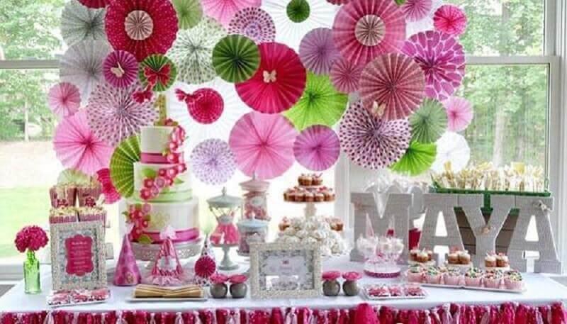decoração de festa infantil com painel de papel Foto Home Interior Design Ideas