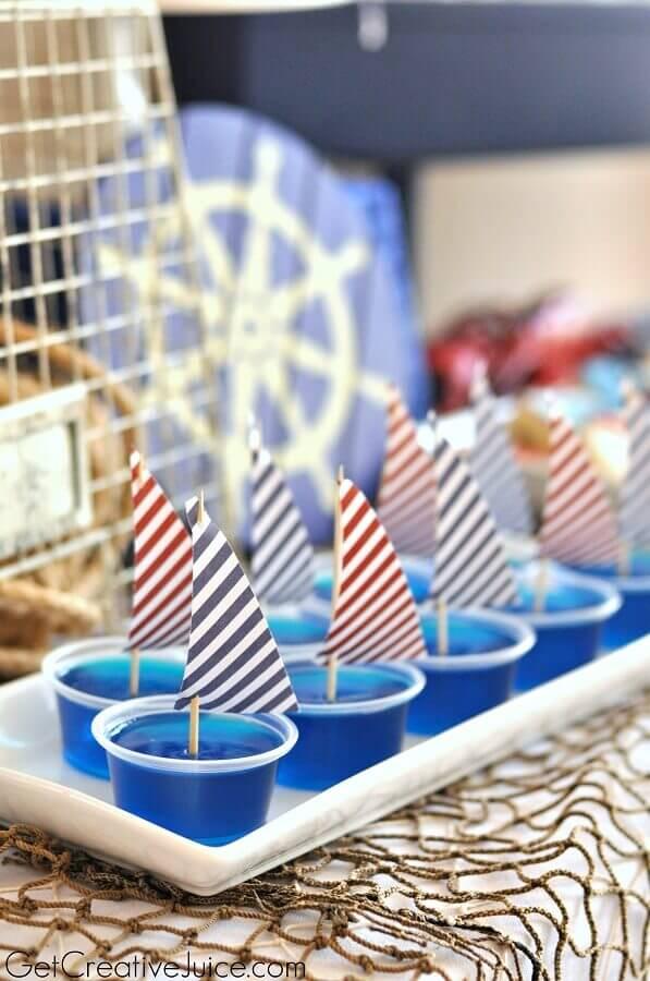 decoração de festa infantil com tema náutico Foto Pinterest