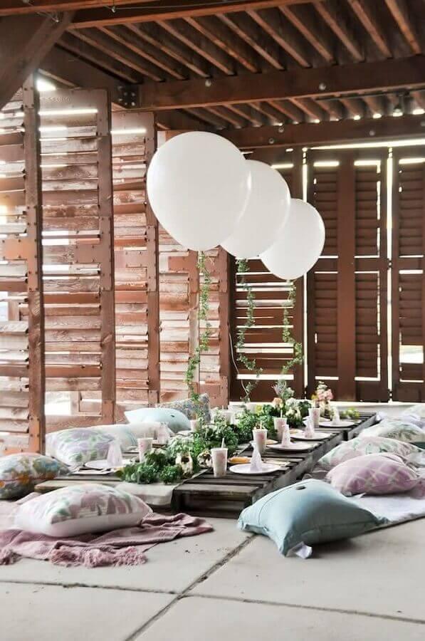 decoração para chá de panela rústico Foto Bridalore