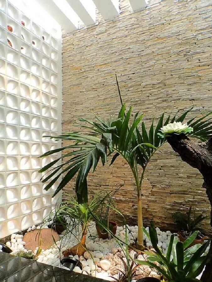 decoração para jardim de inverno com cobogó branco Foto Webcomunica