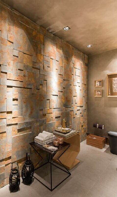 Decoração rústica com revestimento em pedras decorativas