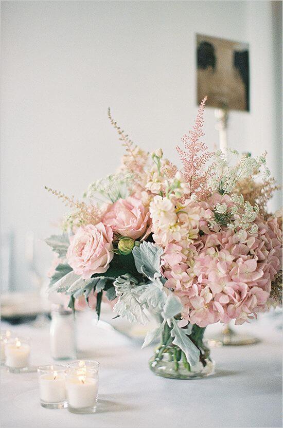 Enfeites de mesa florais