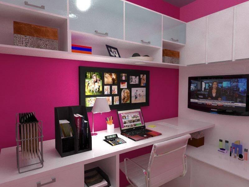 escrivaninha branca fundo rosa tatiana lemos 40985