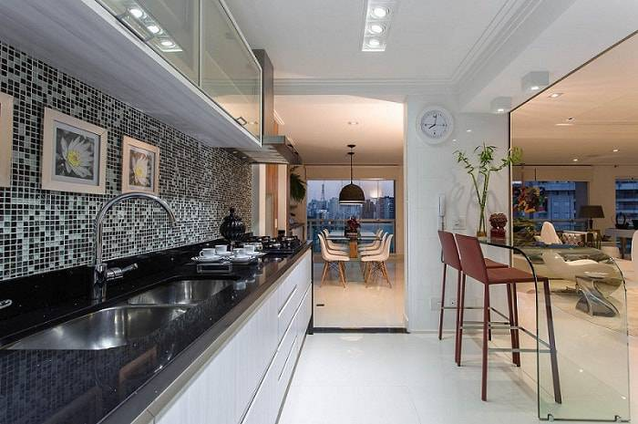 gabinete de cozinha pia de granito marcia acaro 36908