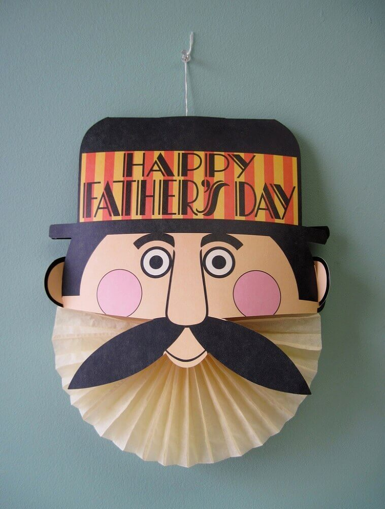 guirlanda personalizada para decoração de dia dos pais