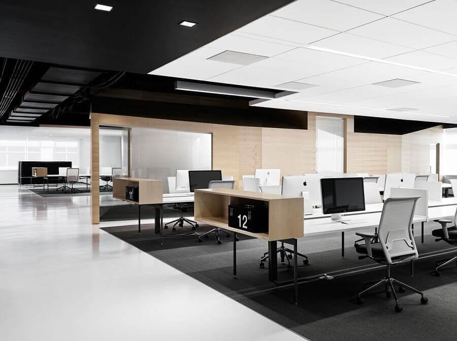 móveis para escritório com decoração minimalista e moderna Foto Pinterest