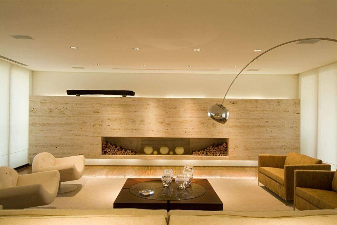 mesa de madeira sala de estar com vidro a1 arquitetura 76083