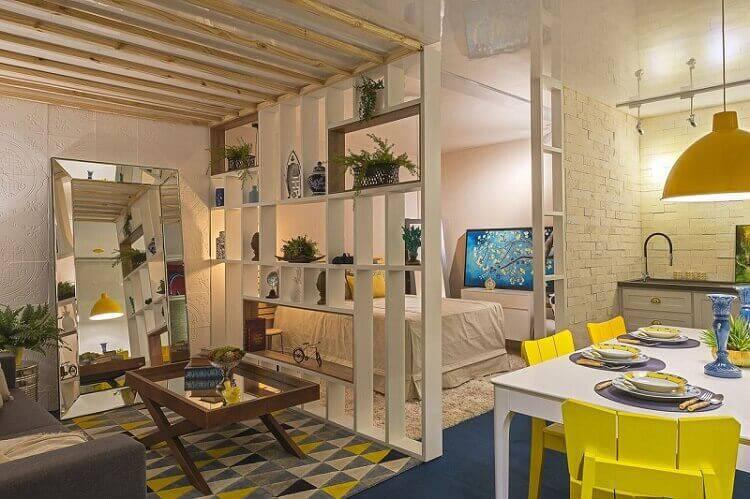 mesa de madeira sala de estar studio morar mais por menos goiania 2017 151895