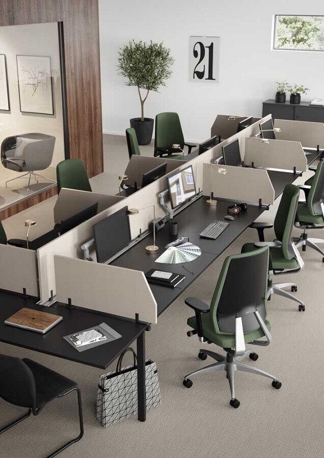 modelo clássico de móveis para escritório Foto Flisol Home