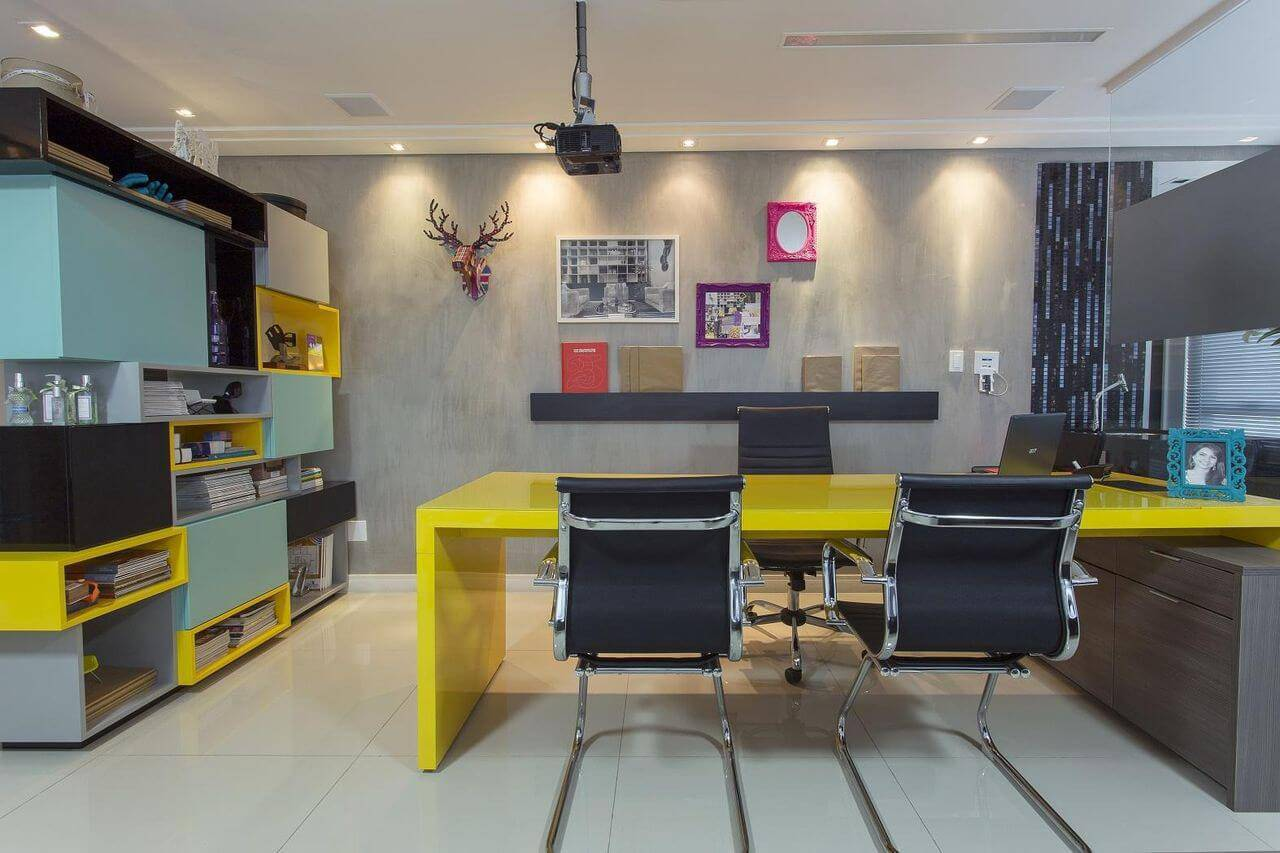 moveis para escritorio amarelo e azul natalia pini 52428