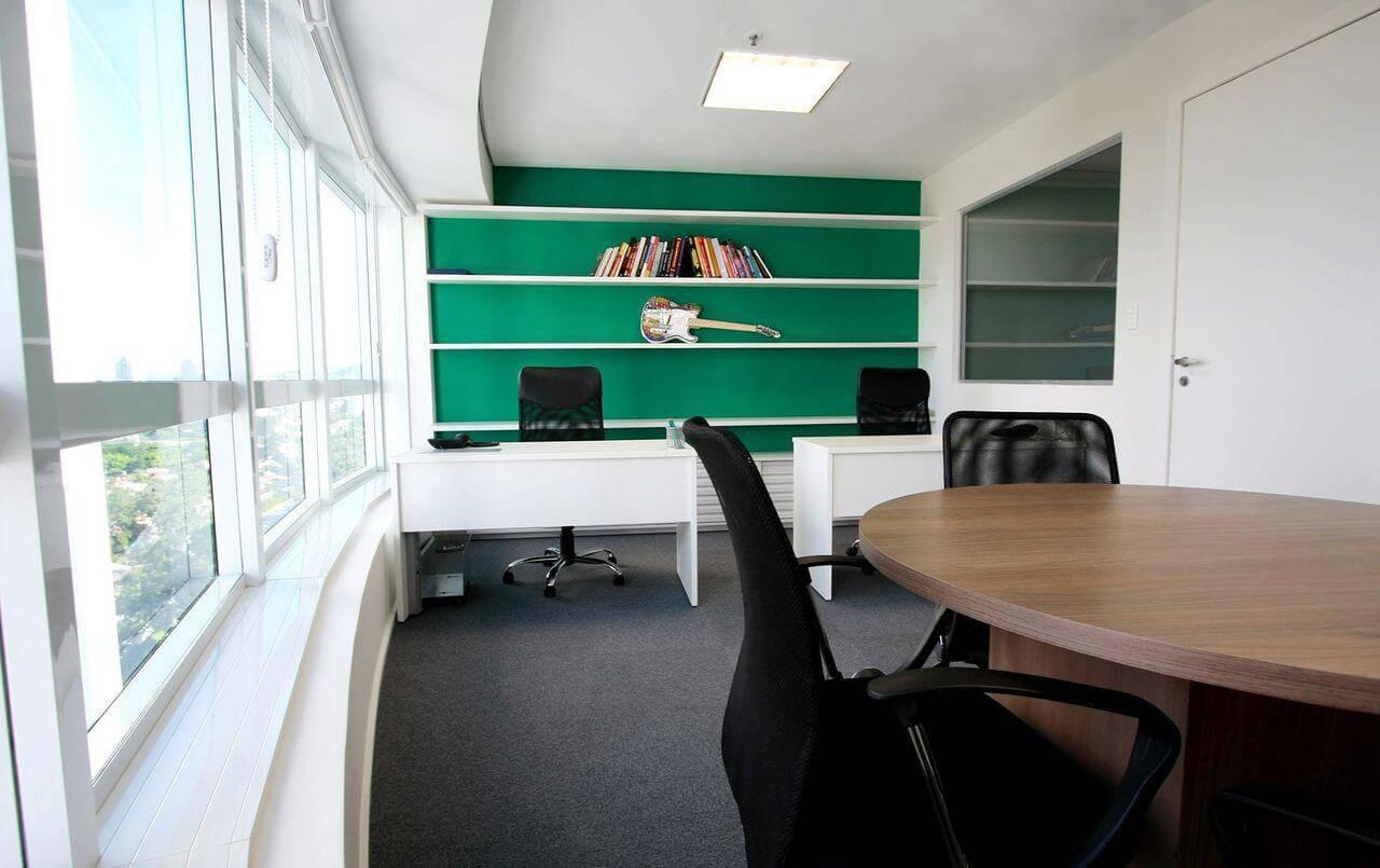 moveis para escritorio com prateleiras tria arquitetura 85479