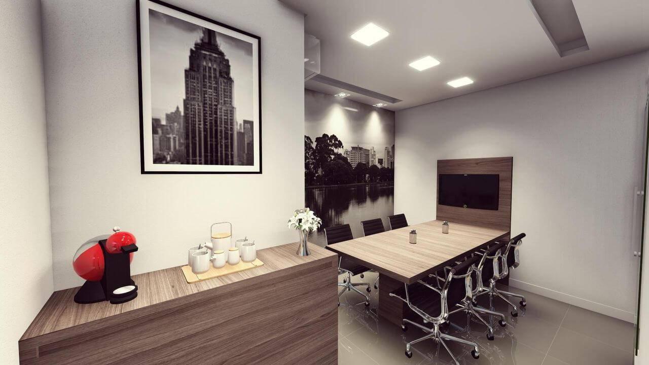 moveis para escritorio sala de reuniao com cafe Gabriella Oliveira Campos 111394