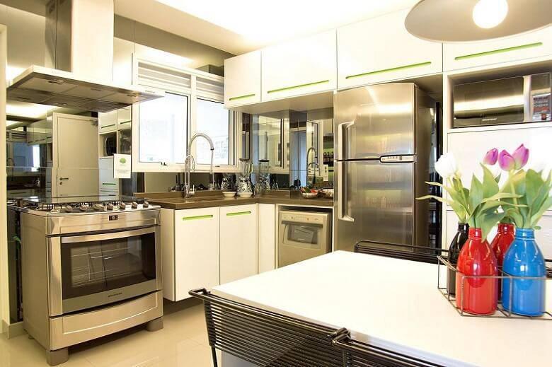 moveis planejados cozinha branca e verde basiches 635