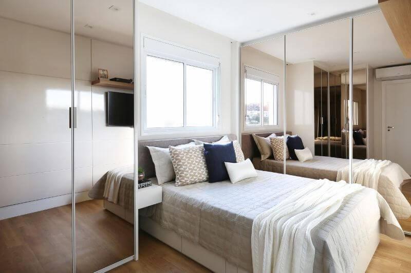 moveis planejados quarto de casal espelhado bianchi lima 150336