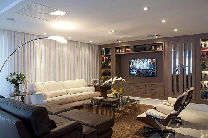 Móveis planejados para o ambiente da sala de estar