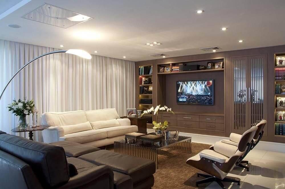 moveis planejados sala de estar marrom anne baril 23093