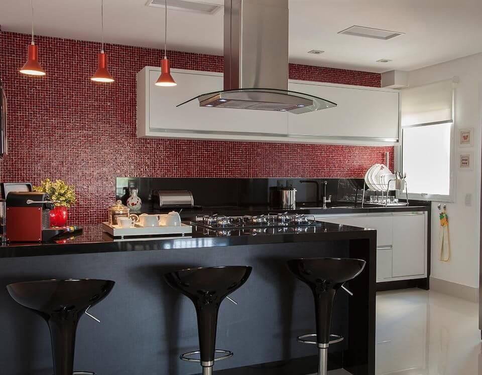 pastilhas de vidro cozinha americana vermelha sandra sanches 94719