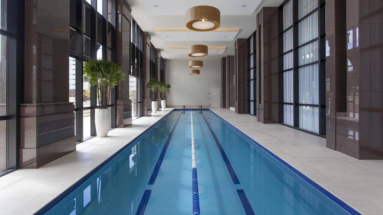 pastilhas de vidro piscina olimpica fechada jayme bernardo 68392
