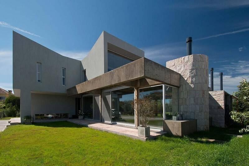 pedras decorativas parede exterior casa estudio sespede 53608