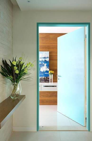 portas de madeira hall de entrada apartamento cesar valenccia 58531