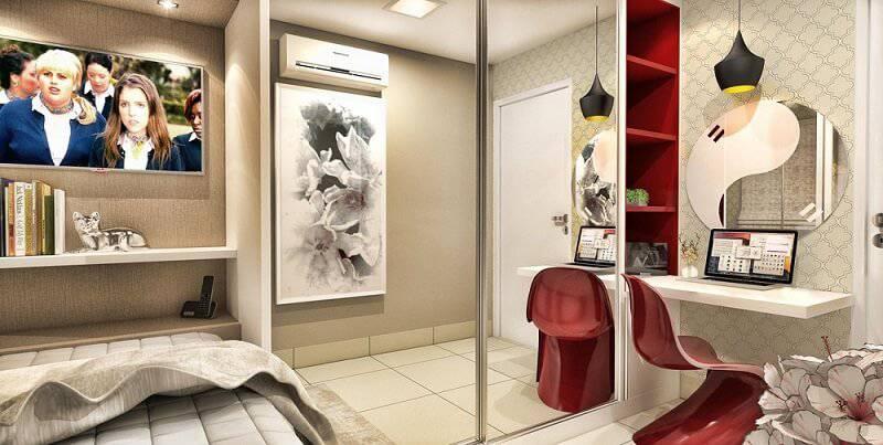portas de madeira lisa branca quarto de casal caroline yasmin goncalves 58574