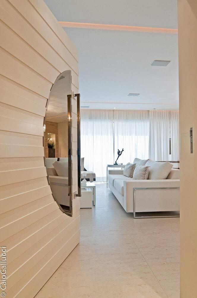 portas de madeira sala de estar emerson vaz 42365