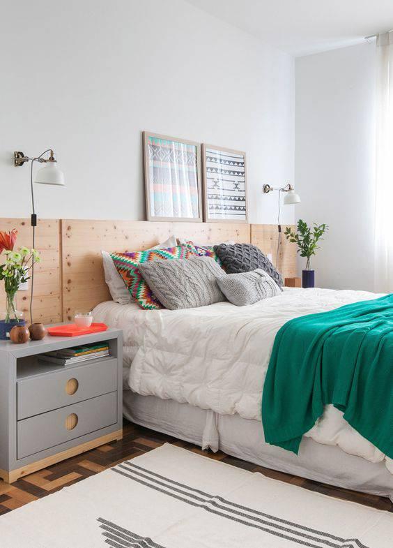 quarto decorado pinterest cabeceira de madeira