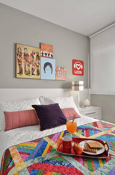 quartos decorados pinterest colcha colorida