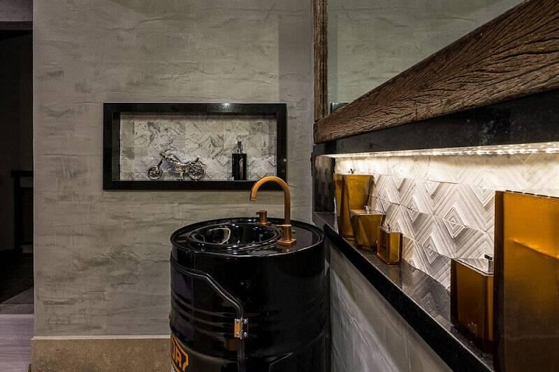 revestimento 3d banheiro com tonel morar mais por menos goiania 151703
