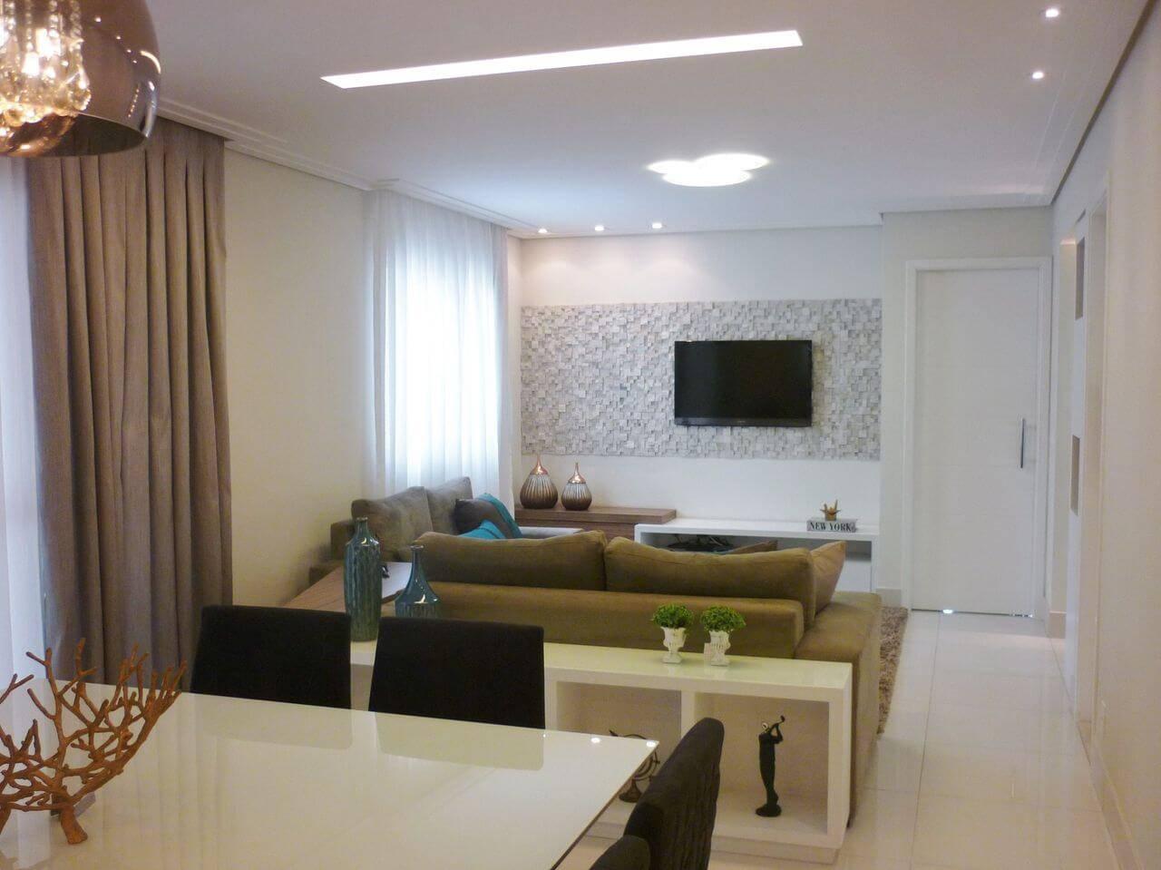 revestimento 3d 36 modelos de ambientes incr veis On sala de estar del azulejo interior
