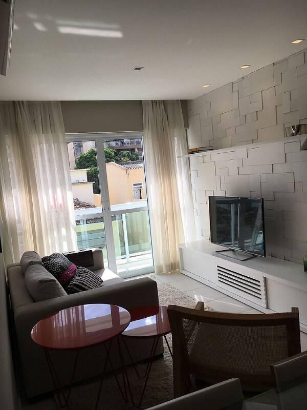 revestimento 3d sala de estar com rack baixo arq express 150117