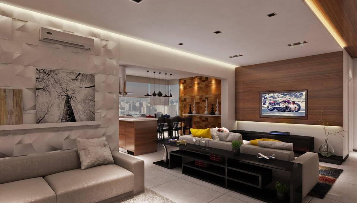 revestimento 3d 36 modelos de ambientes incr veis ForRevestimento 3d Sala De Estar