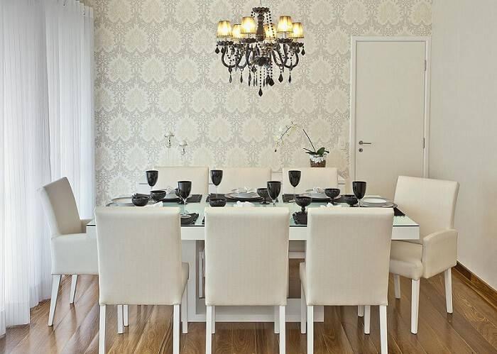 Revestimento de parede 71 modelos para dar um up na casa - Papel decorado para paredes ...