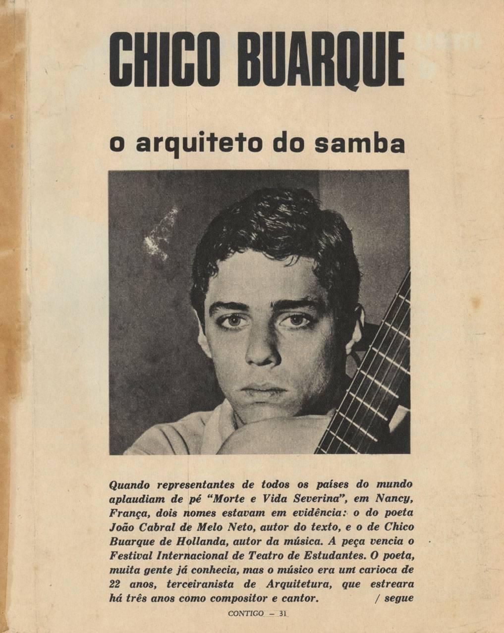 Chico Buarque estudou arquitetura