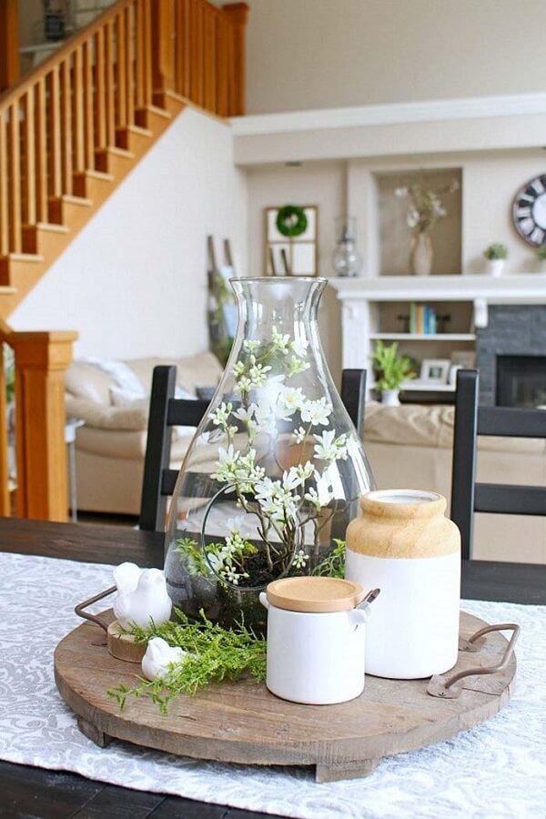 Decore o centro da mesa com um lindo terrário