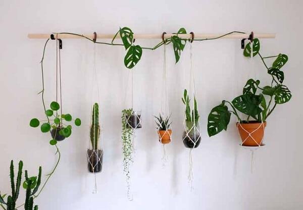 O suporte criativo deixa o jardim suspenso da casa