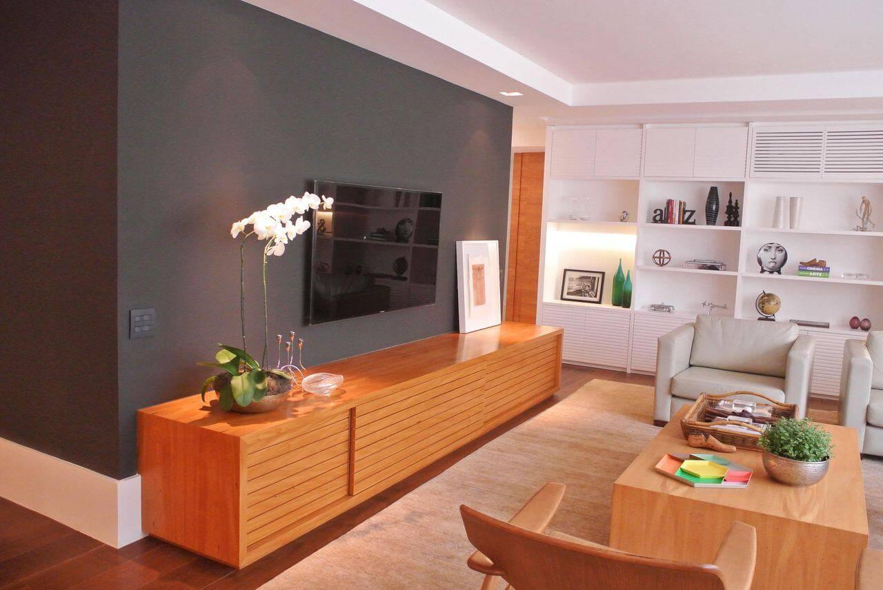 Rack para sala de madeira