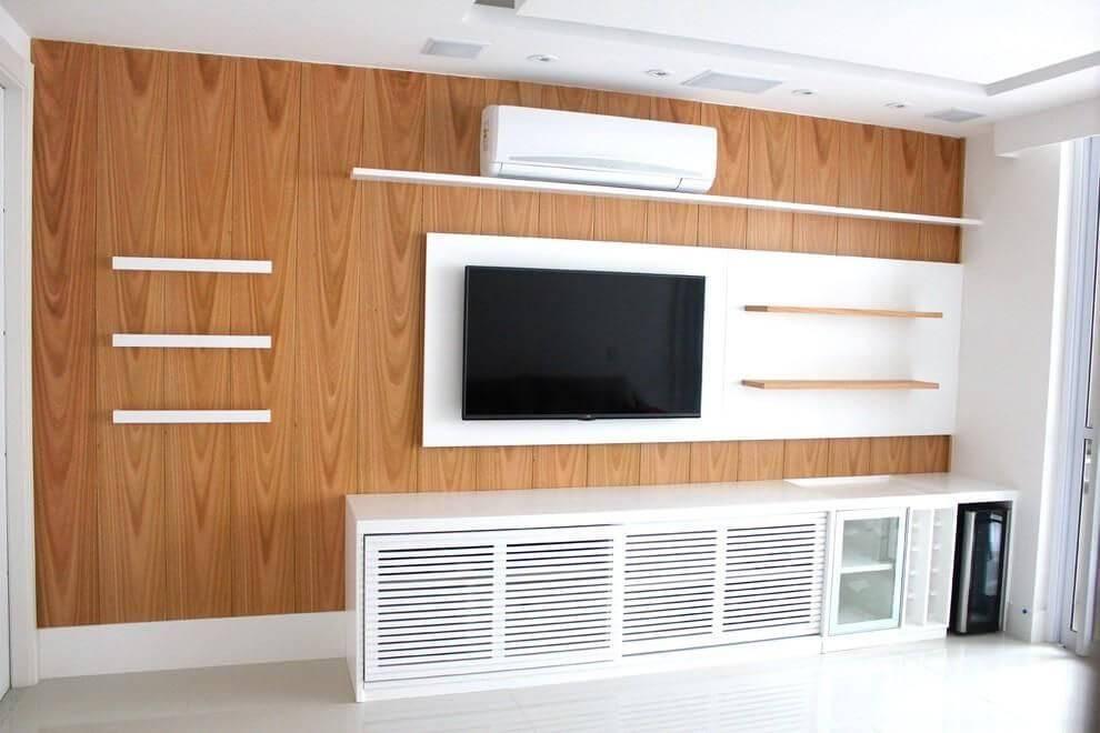 Rack para sala com portas de correr