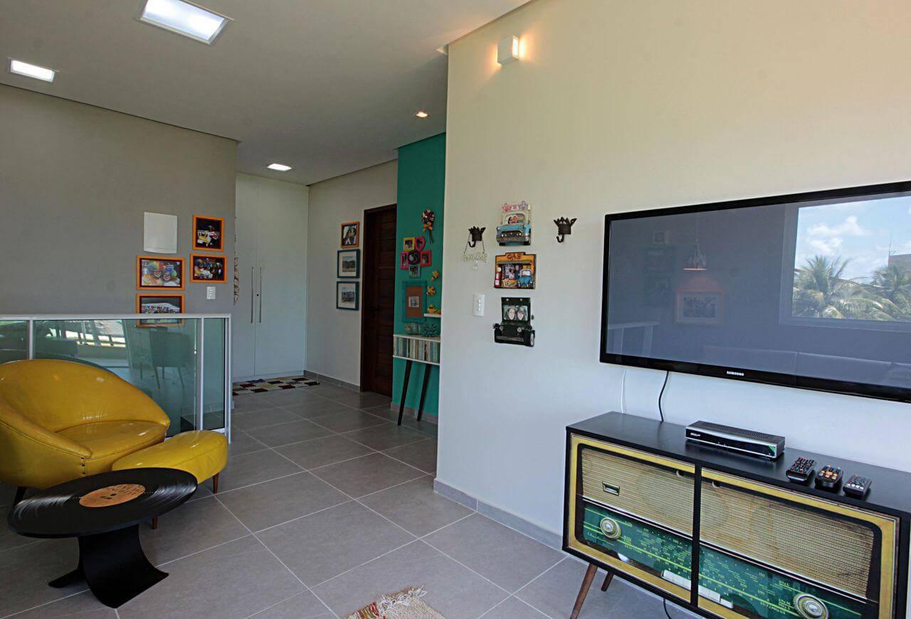 Rack para sala com estilo retrô