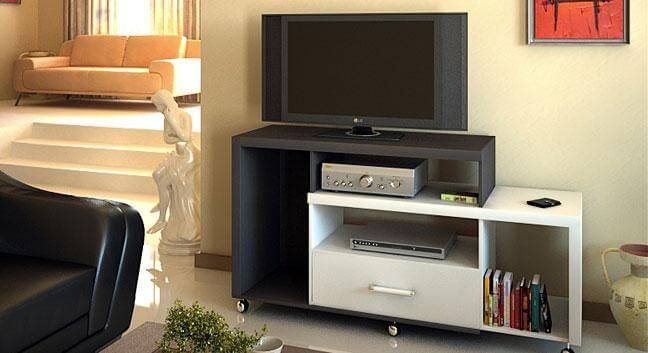 Rack para sala de estar proporcional ao tamanho do ambiente
