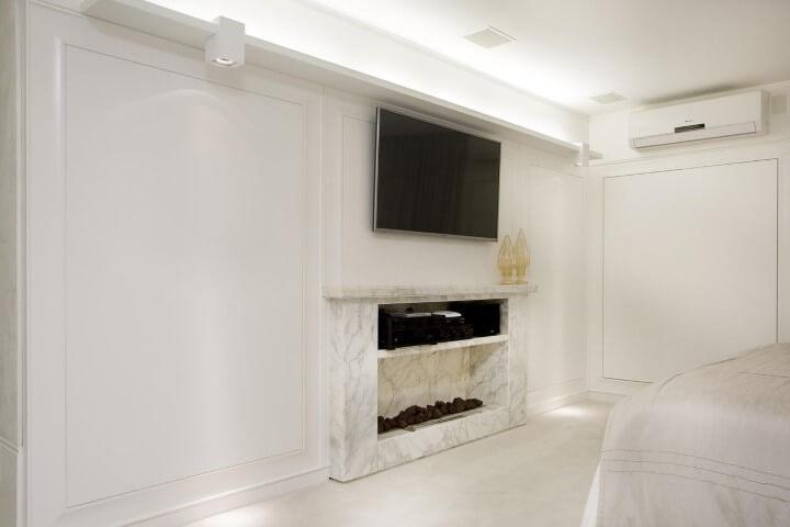 Rack para sala de mármore em quarto