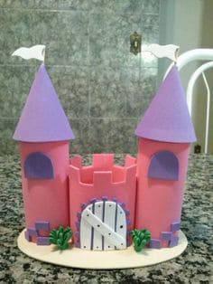 artesanato em EVA centro de mesa castelo