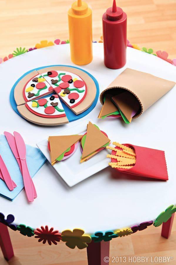 artesanato em eva comidinhas divertidas