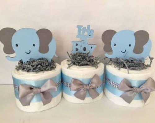 artesanato em eva elefantinhos cha de bebe