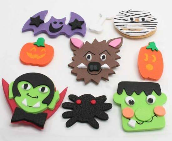 artesanato em eva personagens haloween